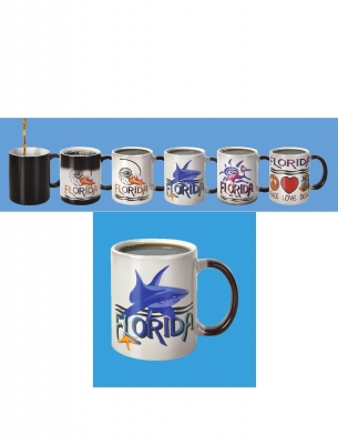Color Changing Mug - Shark Design  (Florida Only)