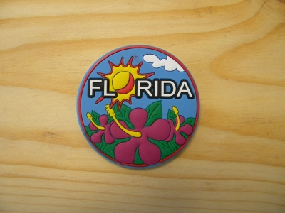 PVC Magnet - Hibiscus Design (Florida Only)