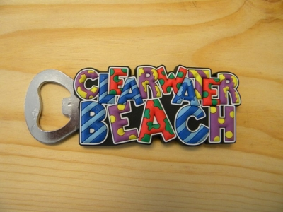 PVC Magnet Bottle Opener - Clearwater Beach