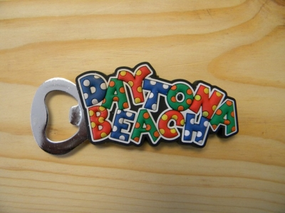 PVC Magnet Bottle Opener - Daytona Beach