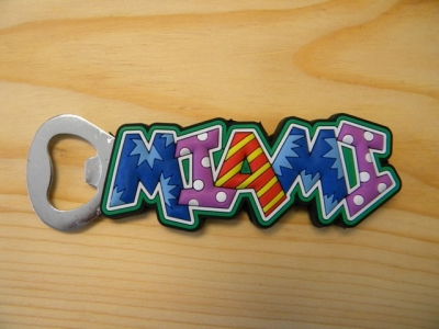 PVC Magnet Bottle Opener - Miami