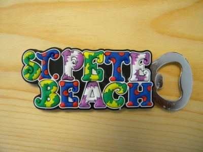 PVC Magnet Bottle Opener - St. Pete Beach