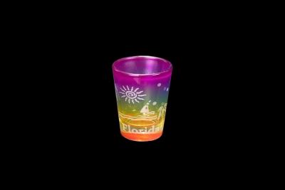 Etched Rainbow Shot Glass