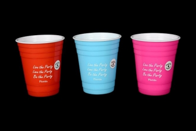 Party Cup Double Wall Insulated - Live, Love, Be Party Design - 3 Assorted Colors
