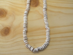 N-8328  - Genuine Tiger Puka Shell Necklace