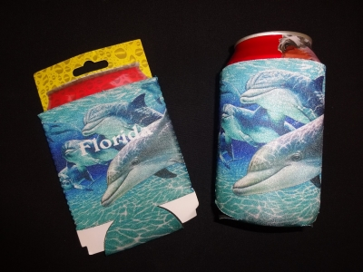 1540 - Neoprene Can Coolie - Dolphin Design