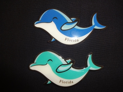 Epoxy Dolphin Magnet - 2 Assorted Colors