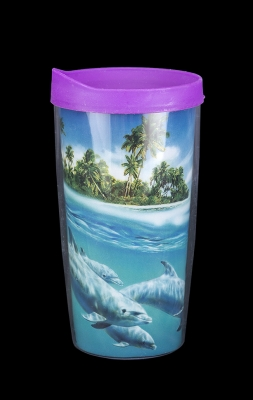 Travel Cup Double Wall Insulated - Dolphin Design