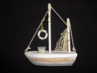 Wooden Fishing Boat 5.5 x 6.5""