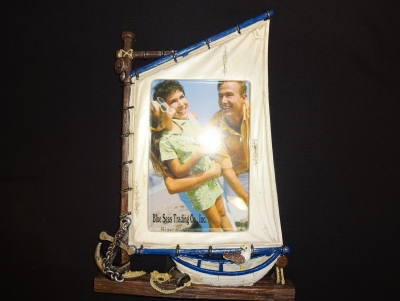 Nautical Sail Boat Photo Frame 4 x 6""
