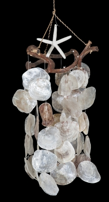 C-201 - Placuna Chime, Vine Top w/ Starfish - Natural