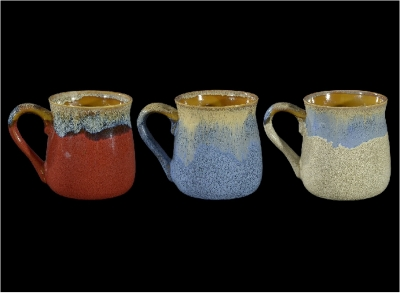 1589 - Honey Pot Reactive Glazed Mug. 24 oz.
