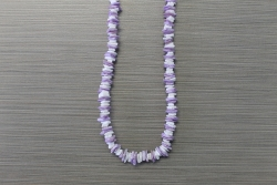 N-8338 - Purple & White Chip Necklace