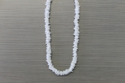 N-8343 - White Chip Necklace