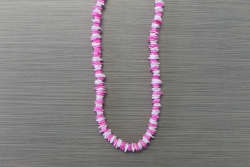 N-8336 - Pink & White Chip Necklace