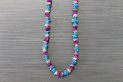 N-8337 - Multi Colored Chip Necklace