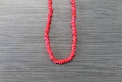 N-8470 - Neon Orange Chip Shell Necklace