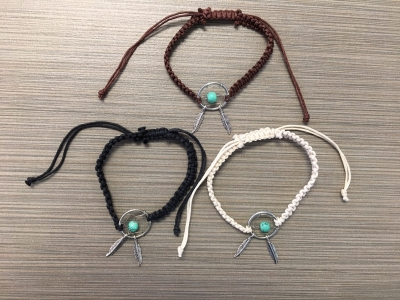 B-8993 - Dream Catcher Bracelet - Assorted Colors