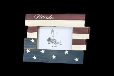 1635 - Wooden Photo Frame - US Flag