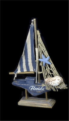 1643 - Wooden Sail Boat - Navy Design