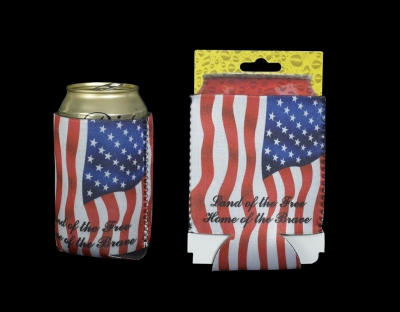 1657 -  Neoprene Can Coolie - US Flag