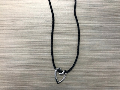 N-8351 - Heart Pendant on Cord Necklace