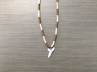 SN-8172   Braided Shark Tooth Necklace