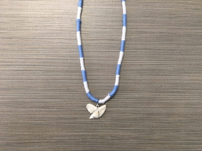 SN-8173   Braided Shark Tooth Necklace