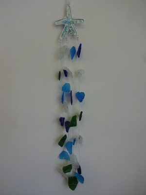 W-268  Sea Glass Windchime - Starfish