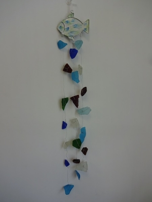 W-269  Sea Glass Windchime - Fish