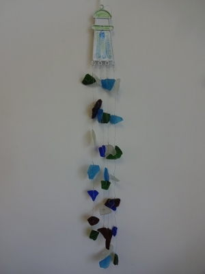 W-270  Sea Glass Windchime - Lighthouse