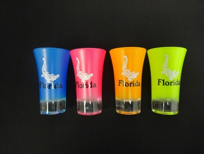 1145 - Neon Shooter w/ Glitter Gator Decal - 4 Assorted Colors