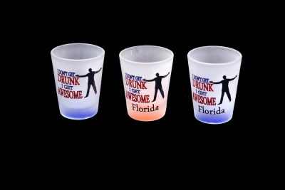 1157 - Frosted Neon Funny Shot Glass (Four Assorted Colors)