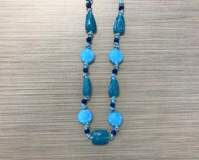 N-8245 - Glass Bead Fashion Necklace