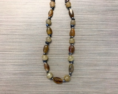 N-8247 - Multicolor Agate Fashion Necklace