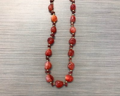 N-8249 - Multicolor Agate Fashion Necklace