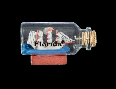 G1030 - Bottle Magnet with Ship - Assorted Colors