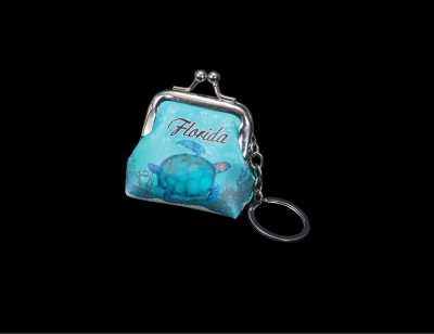 1697 - Coin Purse Keychain - Turtle Desgin