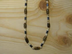 N-8361 - Bone and Hematite Fashion Necklace