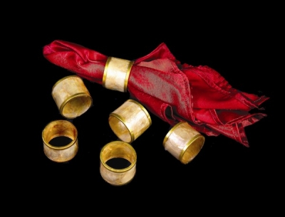 Capiz Napkin Rings Brown - set of 6